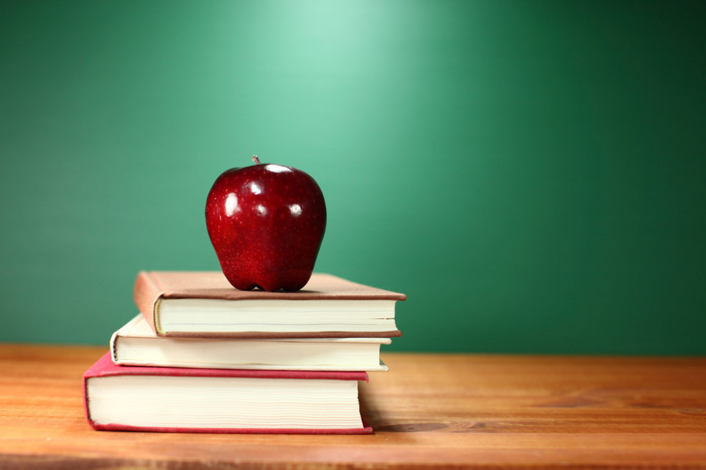 Books on A Desk for Back to School